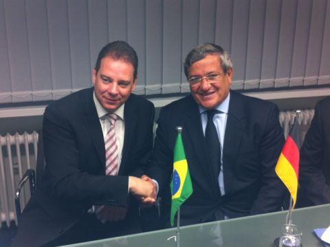Ein Freundschaftsspiel – Brasilianischer Politiker zu Besuch in Verden