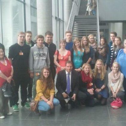Osterholzer Schüler im Reichstag unterwegs