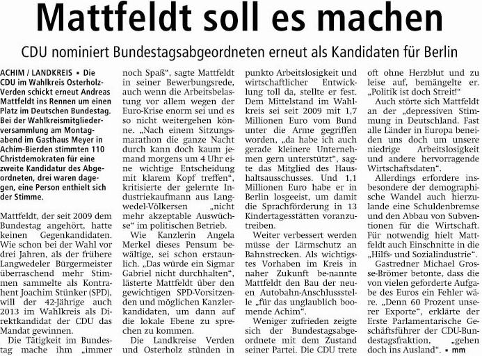 2012 07 11 Artikel Verdener Aller-Zeitung
