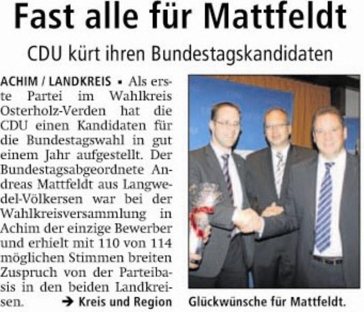 Fast alle für Mattfeldt