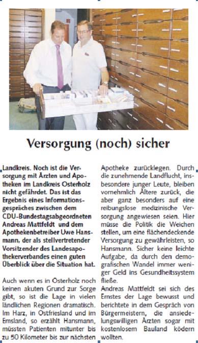20130818 Osterholzer Anzeiger Hansmann
