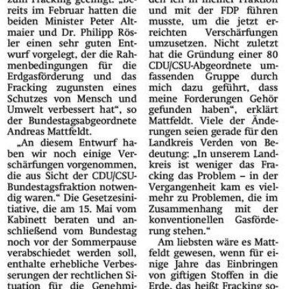 Bund legt Grundstein für sichere Erdgasförderung