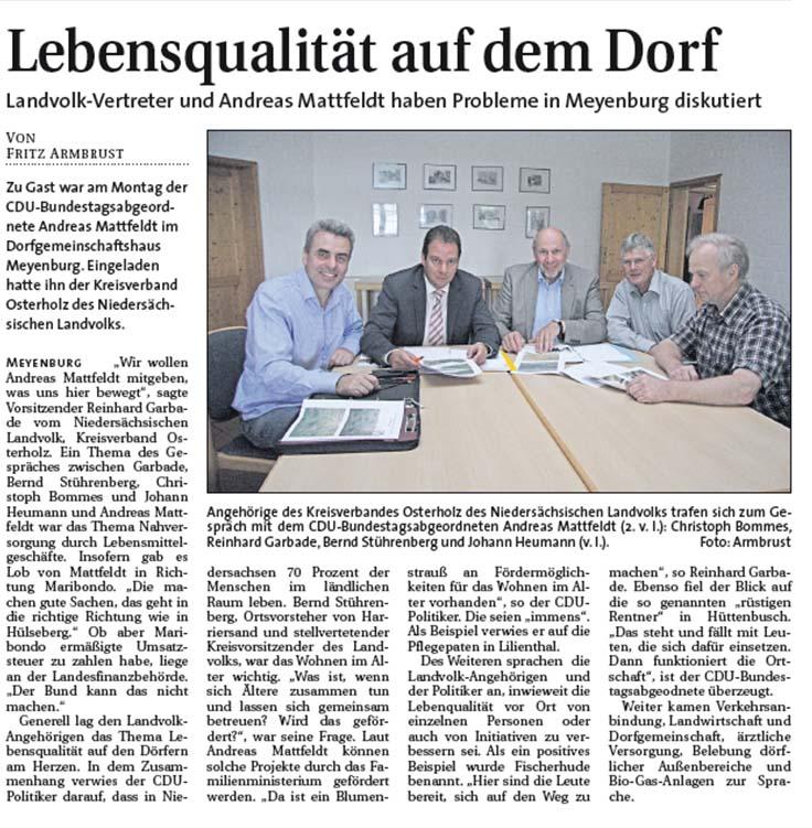 2013 08 21 Weser Report Nord Landvolk OHZ