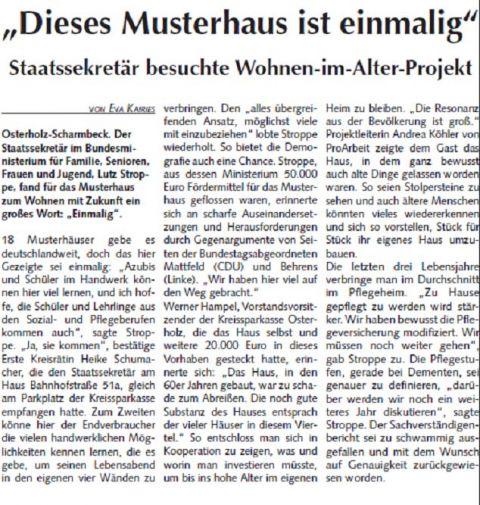 2013 09 11 Osterholzer Anzeiger Musterhaus