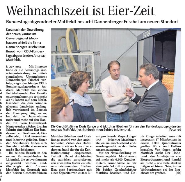 2016 11 02 Hamme Report Mattfeldt Dannenberger Frischei