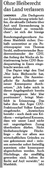 2016 12 04 Hamme Report Mattfeldt Bleiberecht