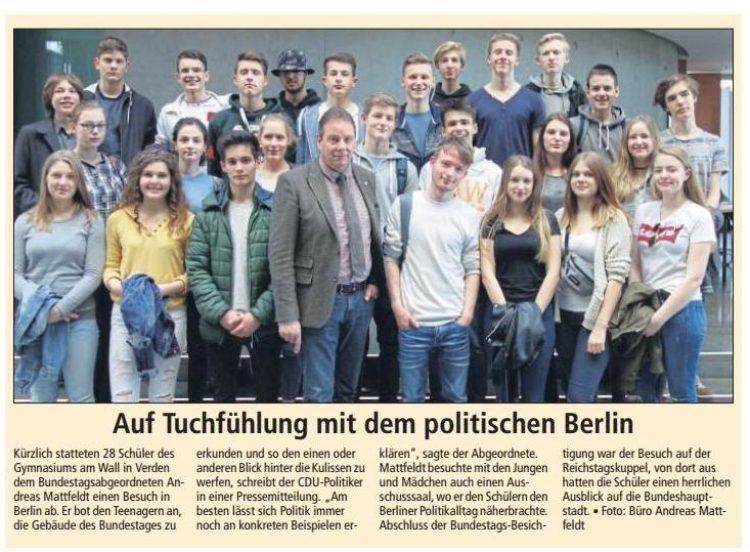 Verdener Schüler in Berlin