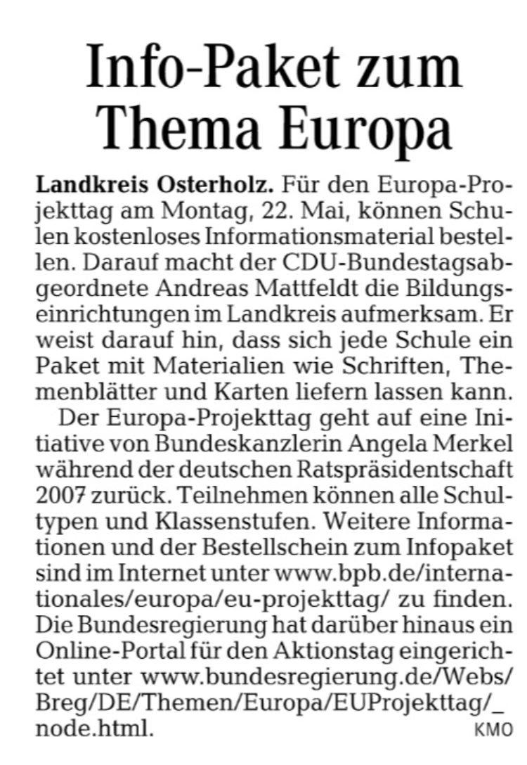 Europa-Infopaket