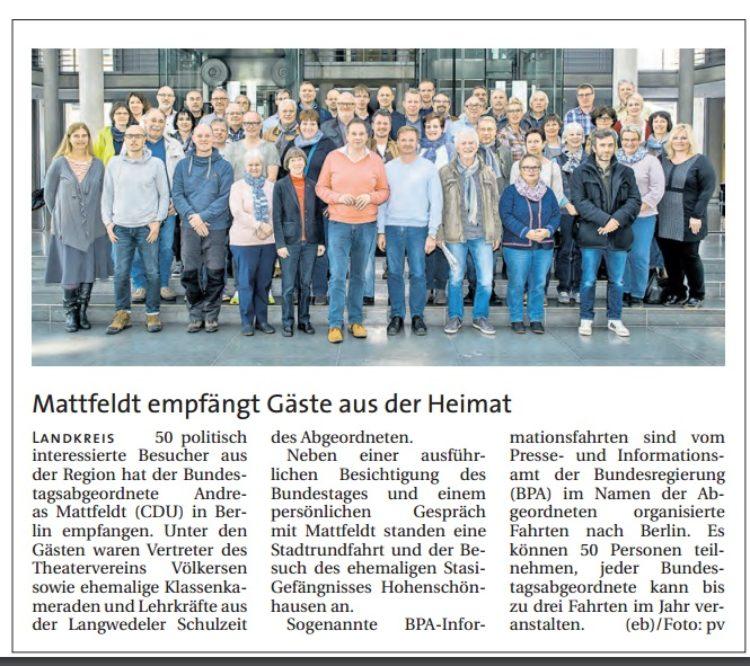 Fahrt zum Bundestag