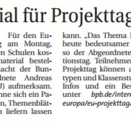 Material für EU-Projekttag