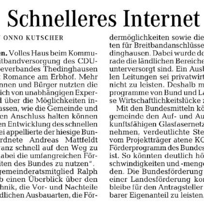 Kommunaldialog Breitband Thedinghausen