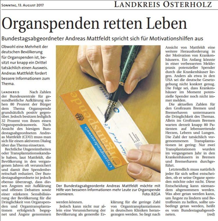 Organspenden retten Leben