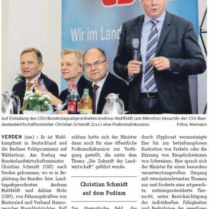 Bundesprominenz in Verden, Spitzenpolitiker unterstützen Wahlkampf