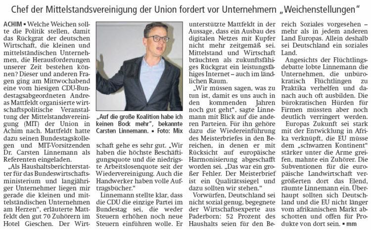 CDU. Weder höhere noch neue Steuern