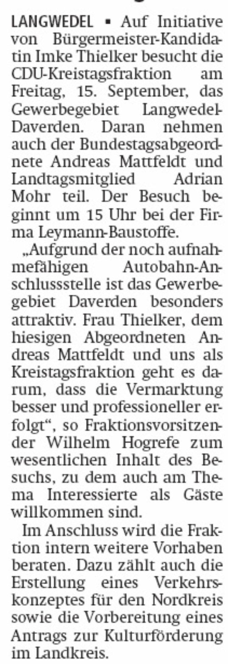 Kreis-CDU besucht Gewerbegebiet