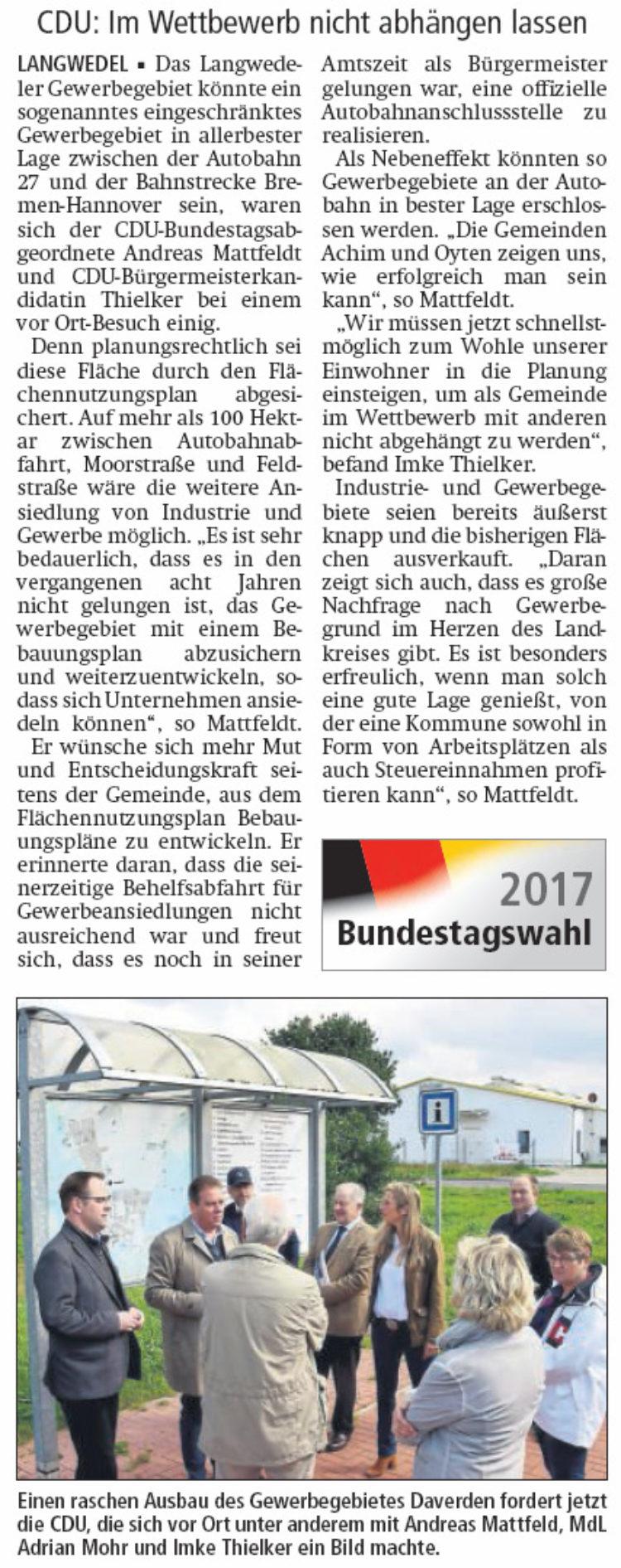 """""""Gewerbegebiet schnell ausbauen"""""""