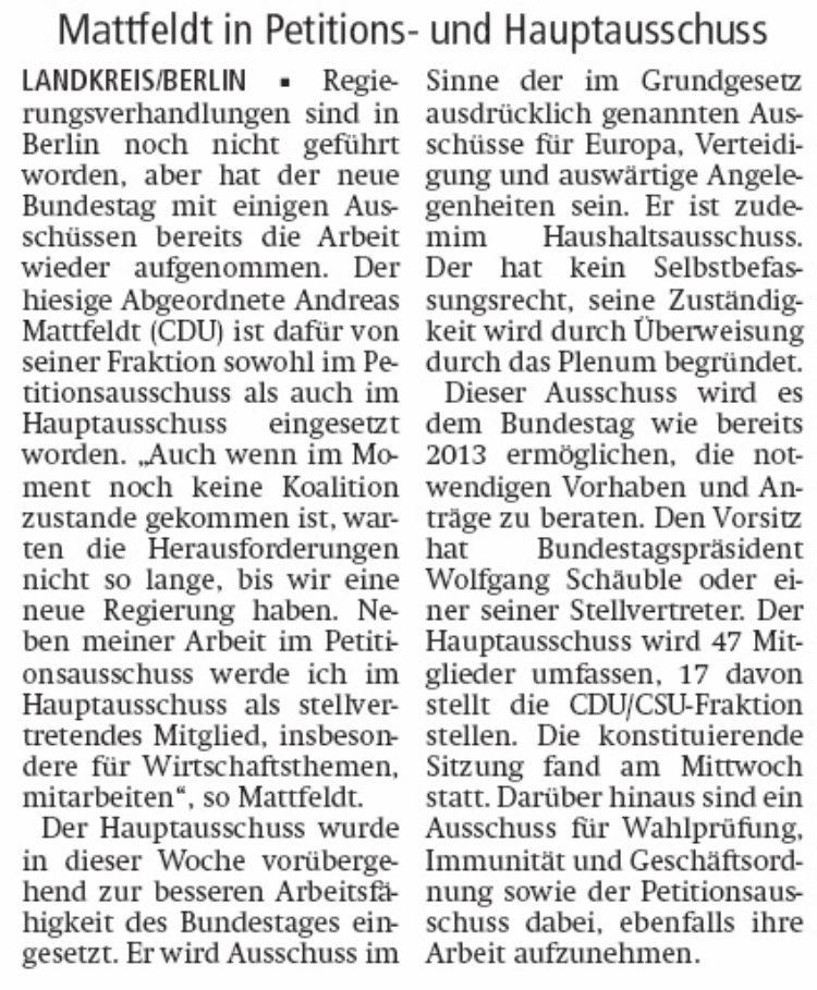 Arbeit im Bundestag