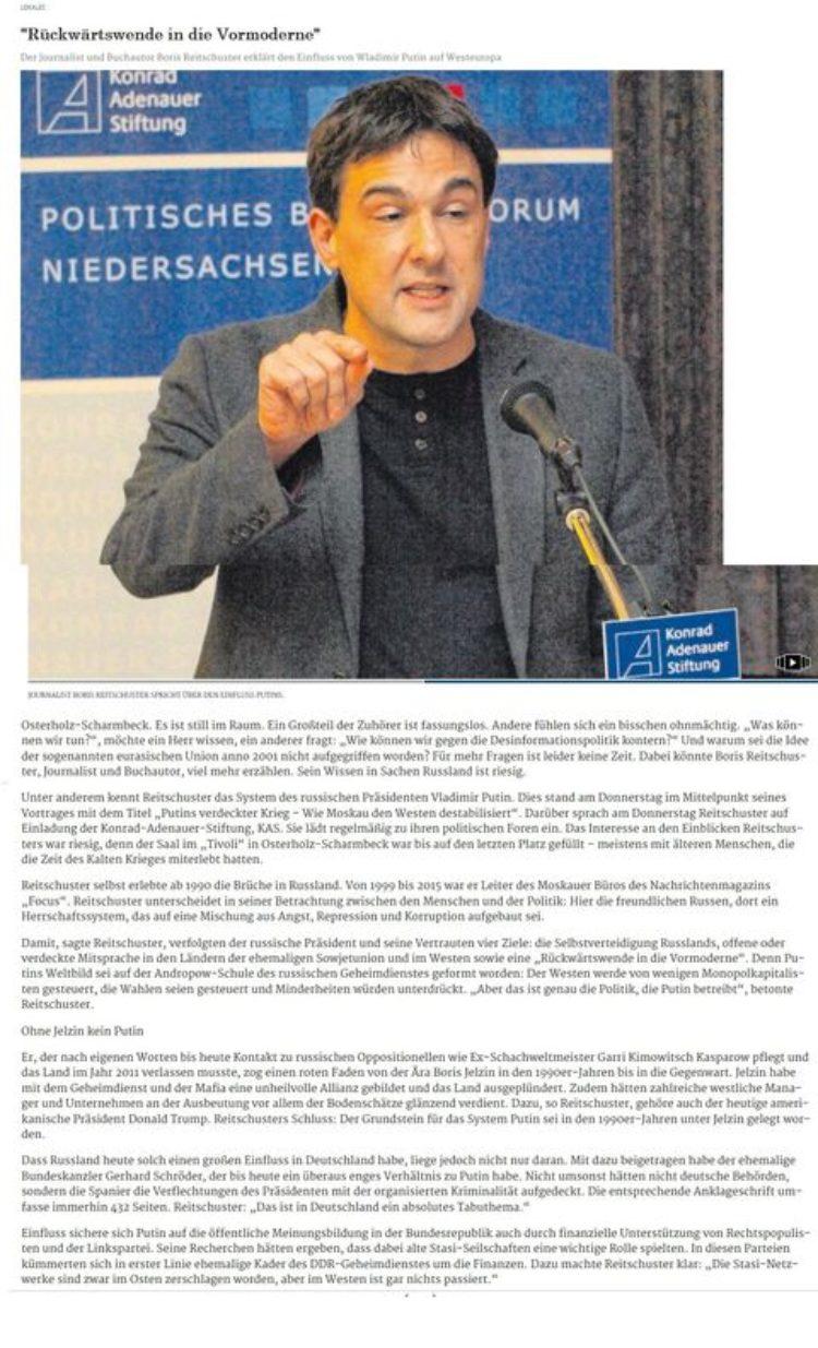 Boris Reitschuster: Putin versucht den Westen zu destabilisieren