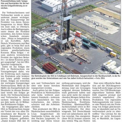 Produkt des täglichen Bedarfs aus der Region: Erdgas