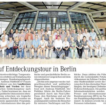 Politische Entdeckungstour nach Berlin