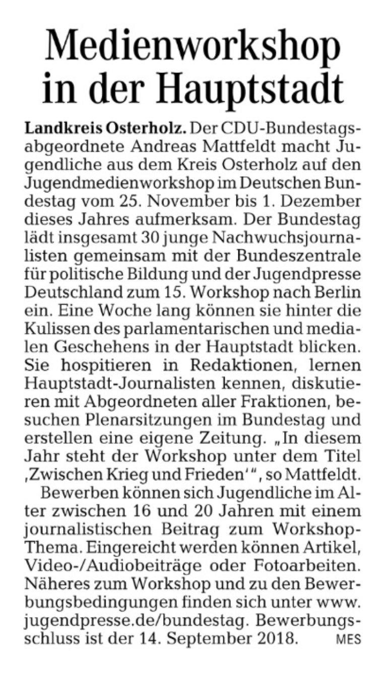 Angebot für Nachwuchsjournalisten