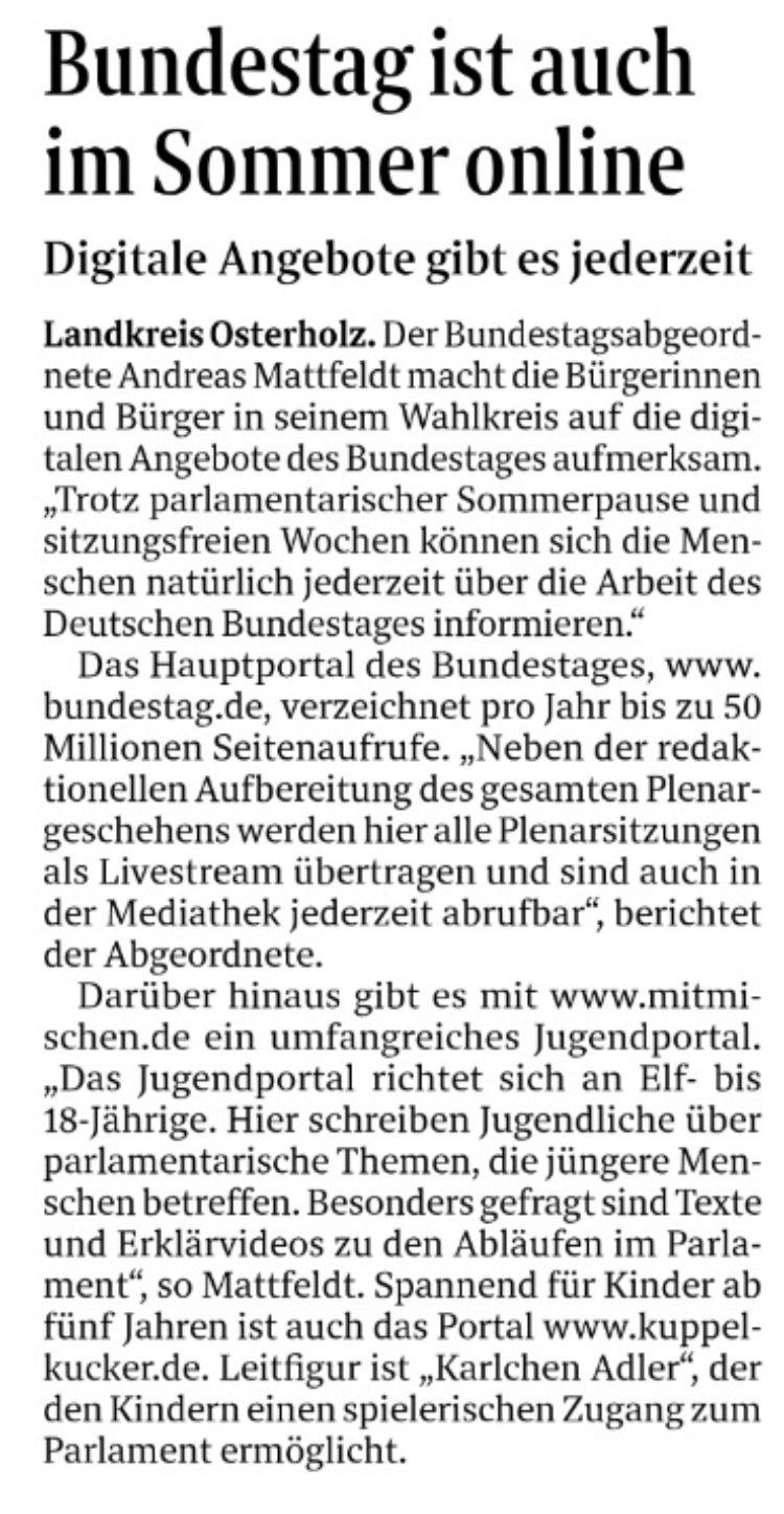 Jederzeit Informationen über den Bundestag
