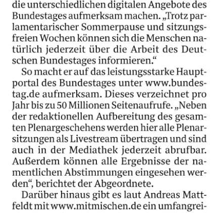 Digitale Angebote des Bundestages
