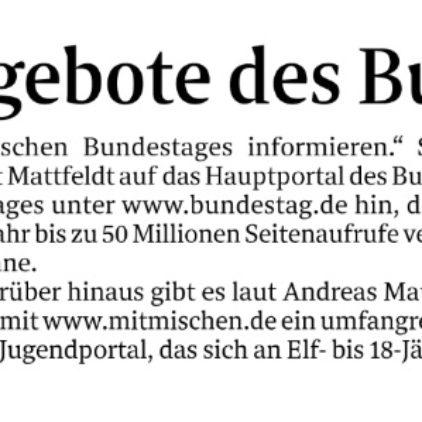 digitales Angebot des Bundestages
