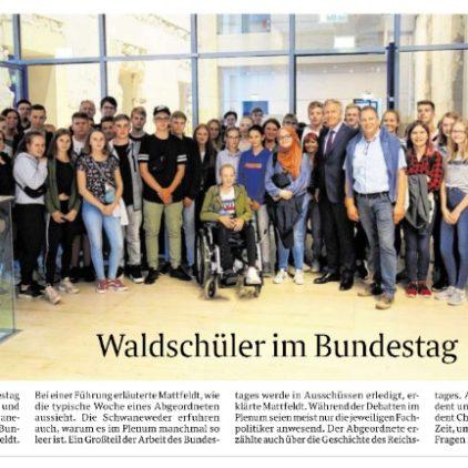 Schwaneweder Waldschüler zu Gast bei Andreas Mattfeldt