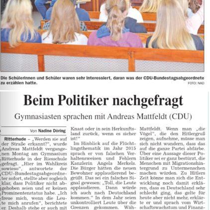 Schüler fragen Politiker