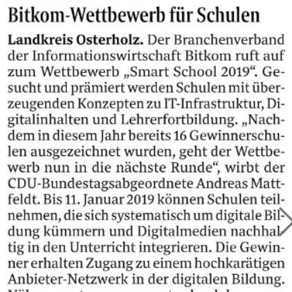 Wettbewerb zur Digitalisierung der Schulen
