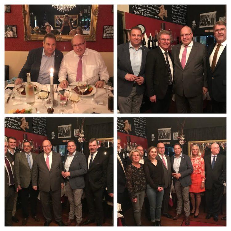Ein Abend für den Mittelstand: Unternehmer diskutieren mit Wirtschaftsminister Altmaier in Berlin
