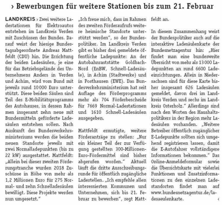 Bund fördert Bau von weiteren Ladestationen