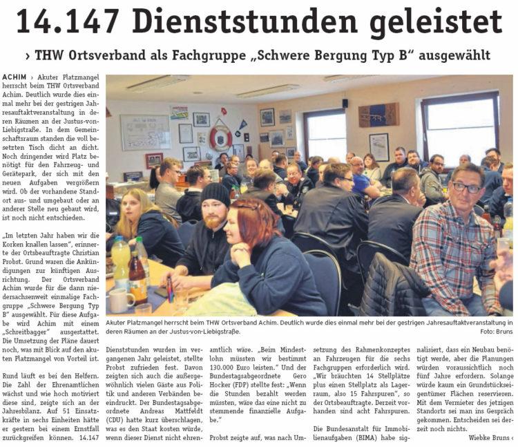 Mattfeldt besucht Jahresauftaktveranstaltung des THW Achim
