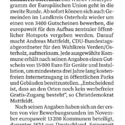 3400 Gutscheine von der EU