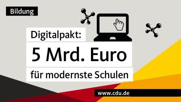Der Digitalpakt kommt: 5,5 Milliarden vom Bund für Ausbau der digitalen Infrastruktur