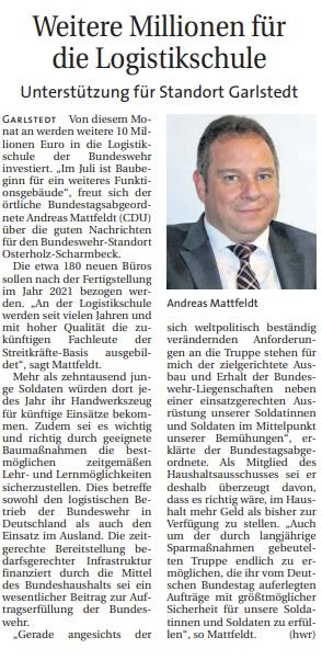 Bund investiert bei der Bundeswehr in Garlstedt