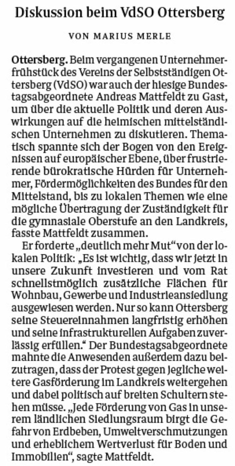 Andreas Mattfeldt fordert mehr Mut