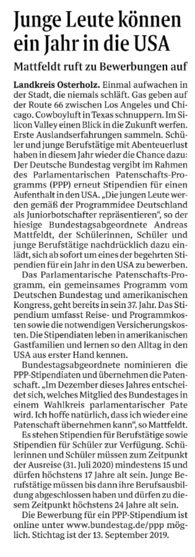 Ein Jahr mit dem Bundestag in die USA