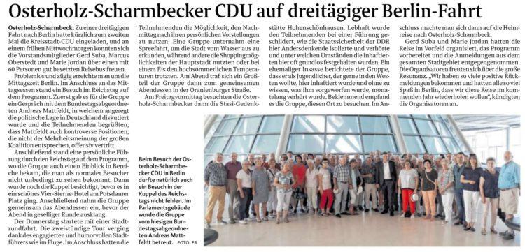 Osterholz-Scharmbecker CDU besucht Berlin