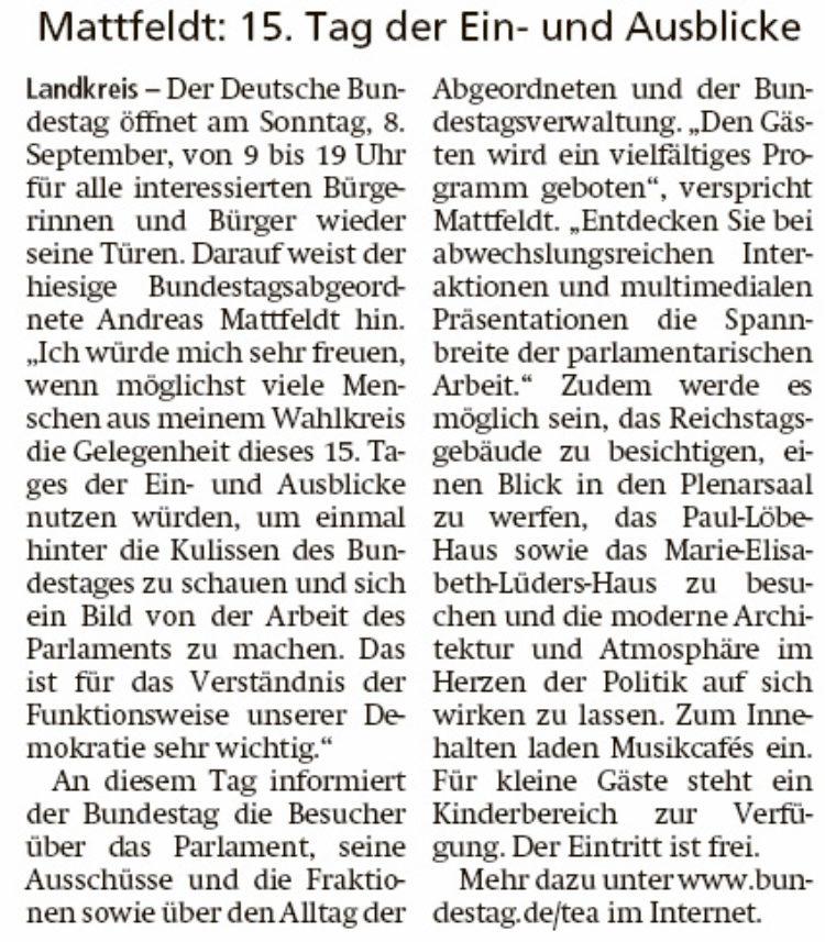 Hinter den Kulissen der Politik im Bundestag