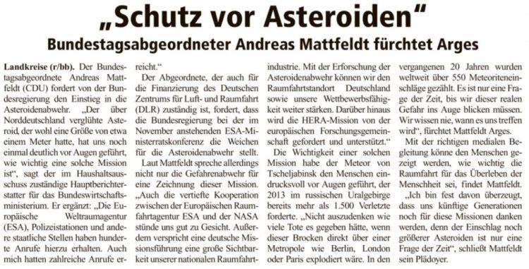 Für den Einstieg in die Asteroidenabwehr