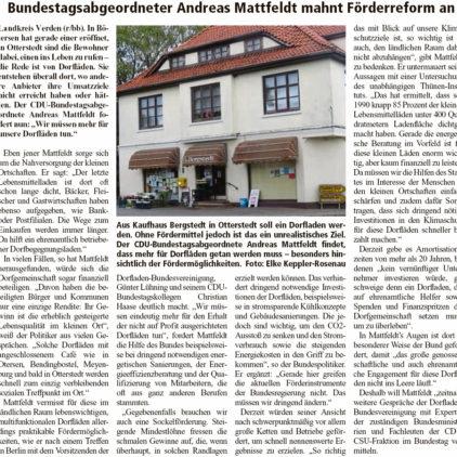 """""""Mehr für Dorfläden tun"""""""