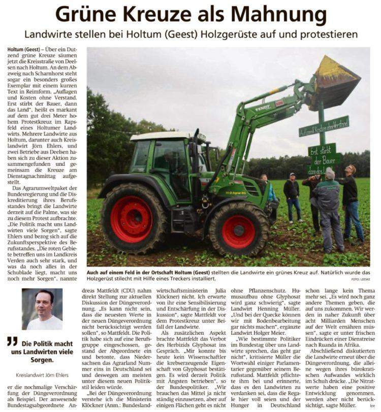 Unterstützung für die Landwirte