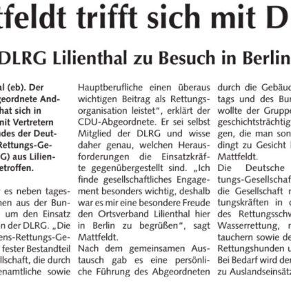 DLRG Lilienthal besucht den Bundestag
