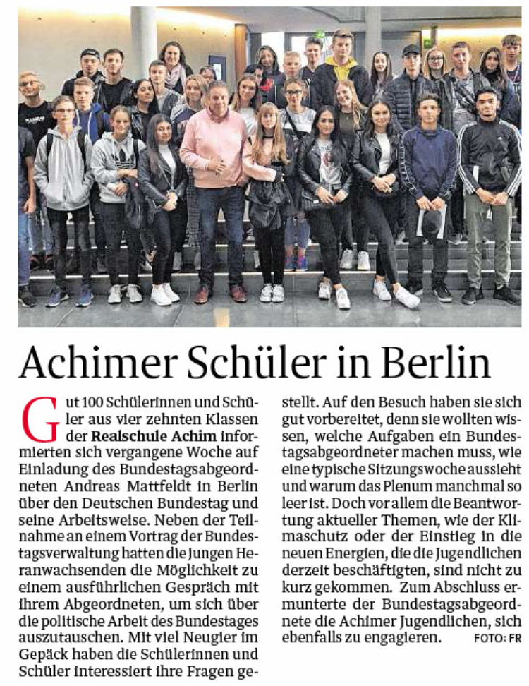 Achimer Schüler in Berlin