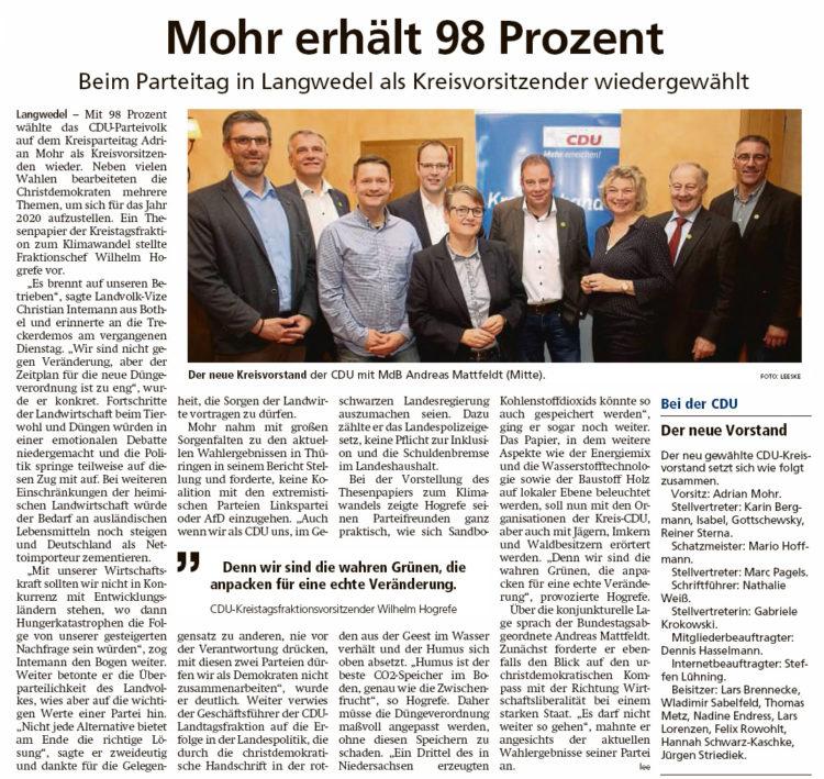 Kreis-CDU mit neuem Vorstand
