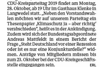 Parteitag der kreisverdener CDU