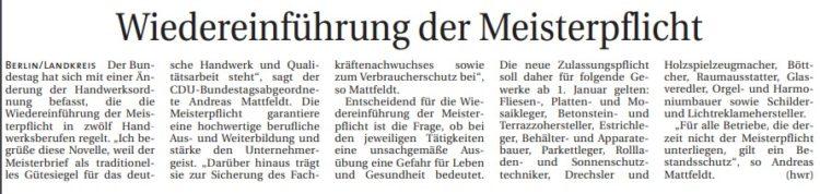 Meistertitel steht für deutsche Qualitätsarbeit