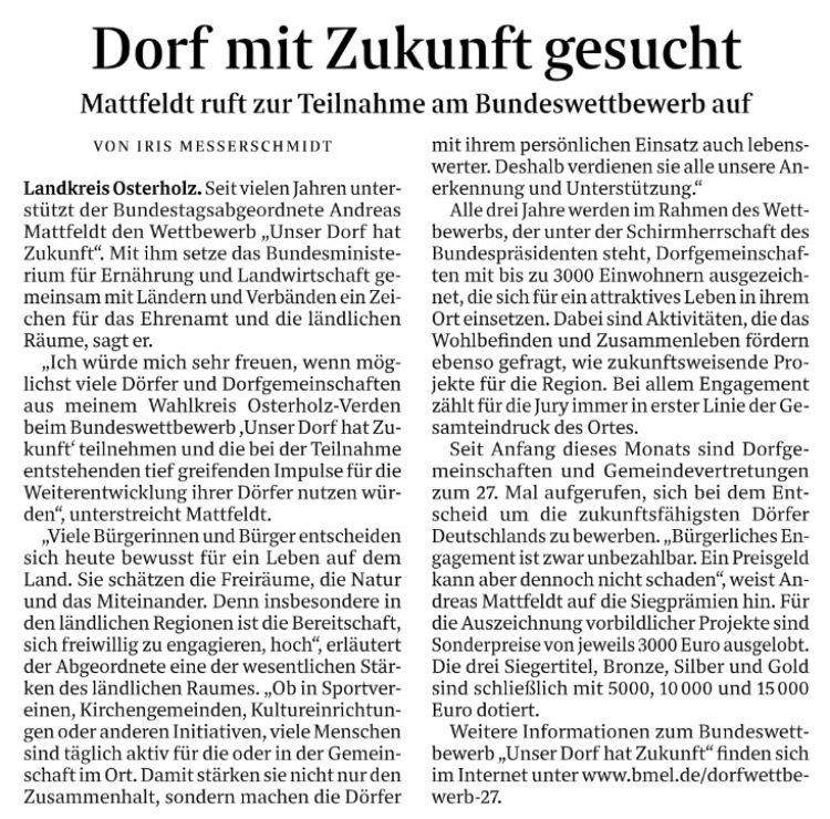 """Bundeswettbewerb """"Unser Dorf hat Zukunft"""""""